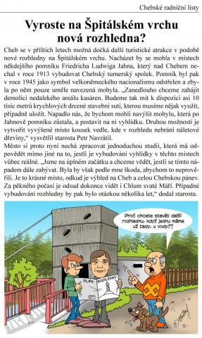Chebské radniční listy duben 2016